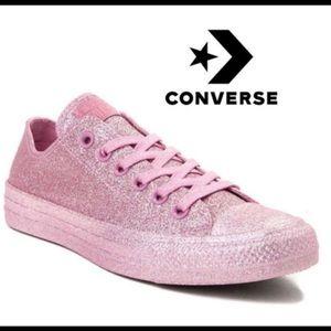 Converse Chuck Taylor all stars pink glitter